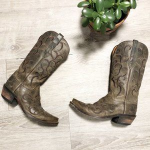 Lucchese Madras Mad Dog Cowboy Boots Sz 6.5